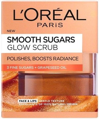 L'Oreal Smooth Sugar Glow Grapeseed Face and Lip Scrub 50ml