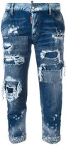 DSQUARED2 Glam Head distressed jeans - women - Cotton/Spandex/Elastane - 36