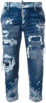 DSQUARED2 Glam Head distressed jeans - women - Cotton/Spandex/Elastane - 38