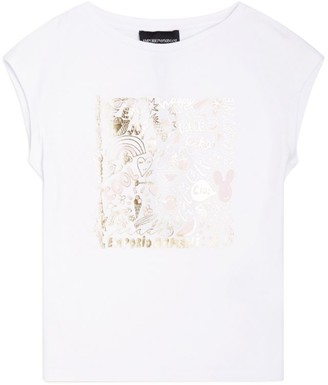 Emporio Armani Kids Metallic Graphic T-Shirt (4-14 Years)