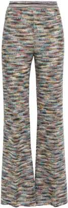 Missoni Marled Crochet-knit Wide-leg Pants