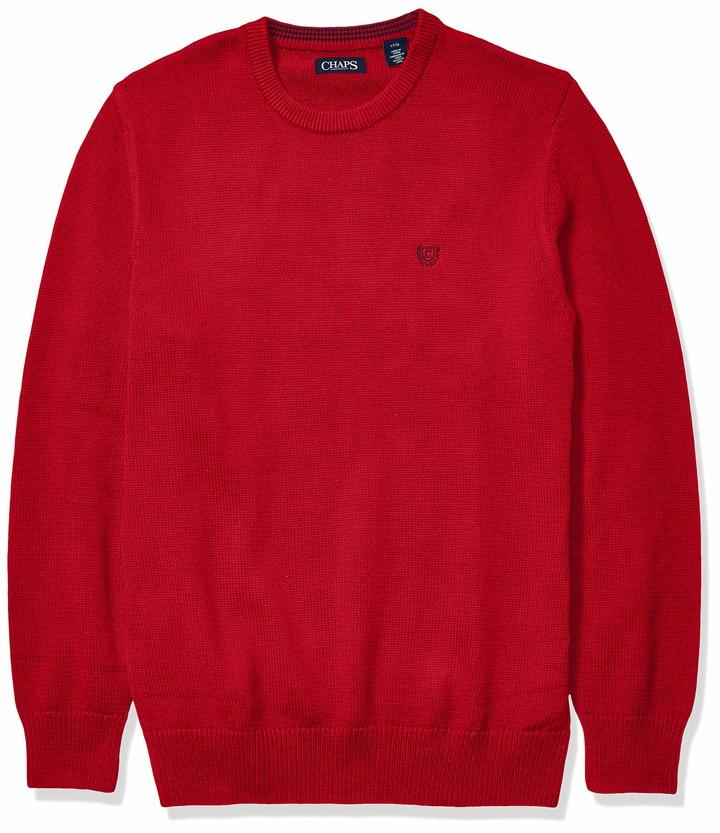 CHAPS Mens Classic Fit Cotton Crewneck Sweater