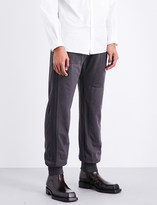 Haider Ackermann Relaxed-fit skinny mid-rise cotton-jersey jogging bottoms