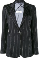 Golden Goose Deluxe Brand striped blazer - women - Cotton/Cupro/Viscose/Virgin Wool - XS