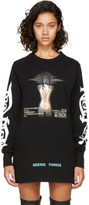 Off-White Black Long Sleeve woman Movie T-shirt