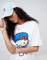 Asos Hello Kitty x Denim Cap With Dabbing Embroidery