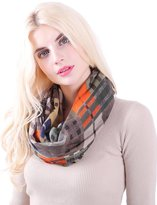 MissShorthair Women's Light Weight Colorful Painting Plaid Tartan Infinity Scarf (8 Green))