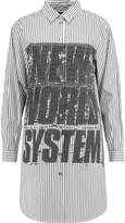 Marc by Marc Jacobs Printed pinstriped cotton-poplin shirt dress
