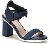 Lacoste Women's Lonelle Leather Velcro High-heeled Sandals