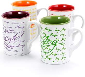 Gibson Home Gibson Lovely Messages 4 Piece set of 16 OZ Tea and Coffee Mugs