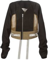 Rick Owens panelled cropped jacket