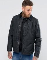 Barbour Reelin Wax Jacket In Navy