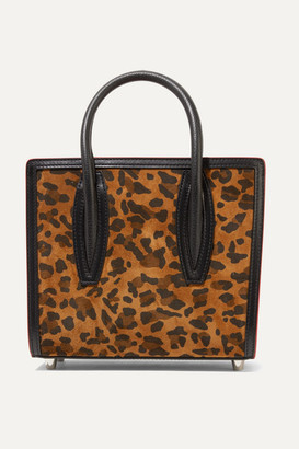 Christian Louboutin Paloma Mini Leopard-print Suede, Leather And Canvas And Tote - Leopard print
