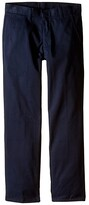 Nautica Regular Fit Flat Front Pants (Big Kids) (Black) Boy's Casual Pants