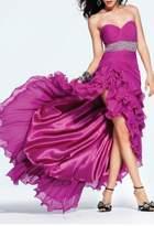 Faviana Maxi Ruffled Gown