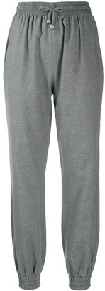 Ermanno Scervino High-Waisted Tapered Track Trousers