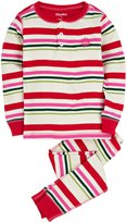 Hatley PJ Sets (Toddler/Kid) - Holiday Stripes-8