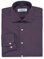 COLLECTION Collection by Michael Strahan Wrinkle Free Cotton Stretch Long Sleeve Woven Geometric Dress Shirt