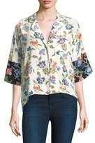 Joie Desmonda Floral Silk Pajama Top