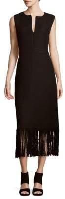 ADAM by Adam Lippes Textured Fringed Dress