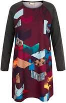 Yumi Owl Digital Print Tunic Dress