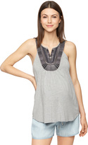 A Pea in the Pod Ella Moss Embroidery Maternity Tank Top