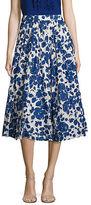 Max Mara Fedora Floral-Print Cotton Skirt