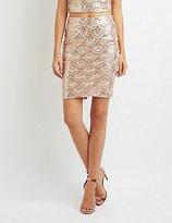 Charlotte Russe Sequin Pencil Skirt