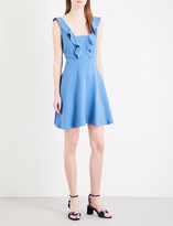 Sandro Frilled woven dress
