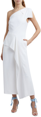 Roland Mouret Tanum One-Shoulder Midi Dress