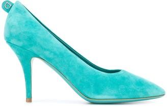 Salvatore Ferragamo suede mid-heel pumps