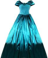 Partiss Women Flower Adorned Floor-Length Gothic Victorian Lolita Dress