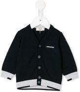 Armani Junior logo print cardigan - kids - Cotton - 6 mth