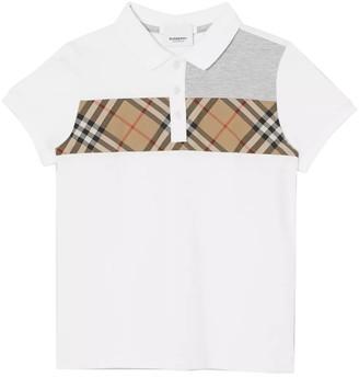 Burberry Kids Archive Print Polo Shirt