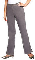 """Denim & Co. """"How Timeless"""" Petite Boot Cut Jeans with Back Pockets"""