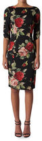 Black Halo Floral Boatneck Dress