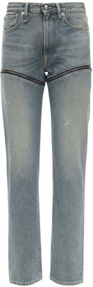 R 13 Axl Denim Slim Jeans W/ Zip-Off Legs