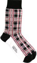 Alexander McQueen checked socks - men - Cotton/Polyamide/Spandex/Elastane - One Size