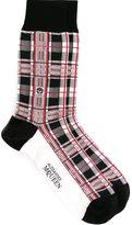 Alexander McQueen checked socks - men - Polyamide/Cotton/Spandex/Elastane - One Size