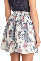Opulent Bloom Skirt in Blue