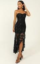 Showpo Weekend Vibes Dress in black lace - 4 (XXS) Dresses