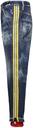 DSQUARED2 17cm Brad Zip Cotton Denim Jeans