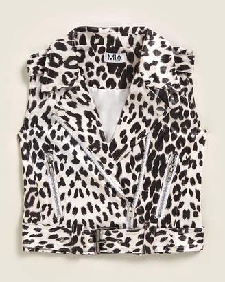 Mia Girls 4-6x) Leopard Moto Vest