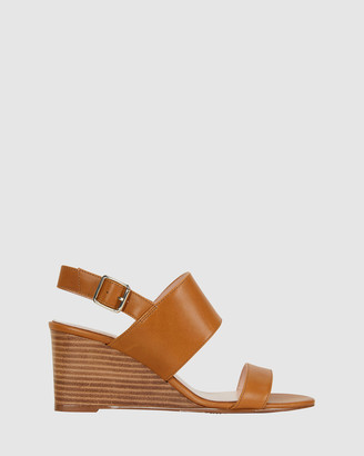 Jane Debster - Women's Brown Wedge Sandals - Diana - Size One Size, 7 at The Iconic