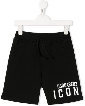 DSQUARED2 Icon logo print track shorts