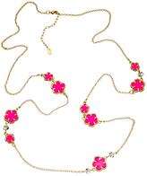 Blu Bijoux Neon Scattered Flower Power Necklace