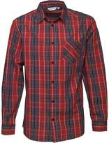 Kangaroo Poo Mens Yarn Dyed Checked Long Sleeve Shirt Red/Multi