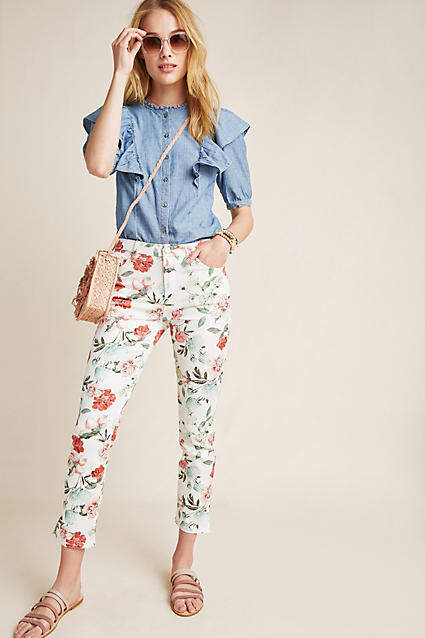 7 For All Mankind Jen7 by High-Rise Cropped Skinny Jeans