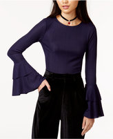 J.o.a. Ruffled-Sleeve Top