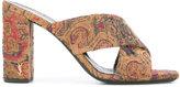 Saint Laurent LouLou 95 mules - women - Cotton/Leather - 36